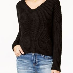American Rag Lace Up Back Sweater